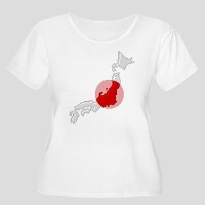 """Pixel Japan"" Women's Plus Size Scoop Neck T-Shirt"