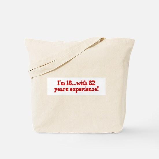 Cute Funny 80th birthday Tote Bag