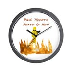 Bad Tippers Serve Wall Clock