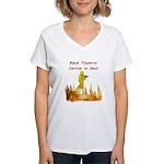 Bad Tippers Serve Women's V-Neck T-Shirt