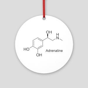 Adrenaline Molecule Ornament (Round)