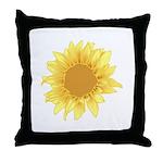 Elegant Sunflower Throw Pillow