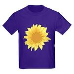 Elegant Sunflower Kids Dark T-Shirt