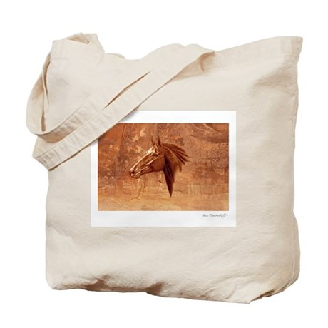 Horse Portrait, 'Sedona Stallion' Tote Bag