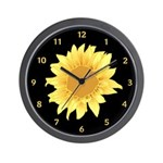 Elegant Sunflower Wall Clock