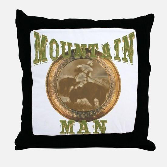 Mountain man gifts and t-shir Throw Pillow