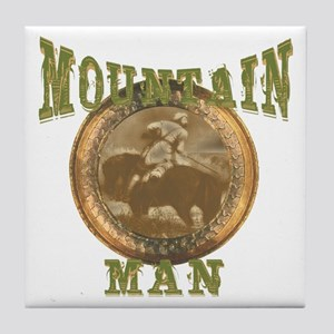 Mountain man gifts and t-shir Tile Coaster