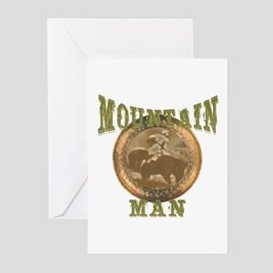 Mountain man gifts and t-shir Greeting Cards (Pack