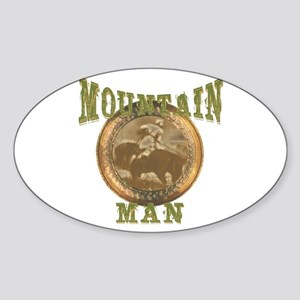 Mountain man gifts and t-shir Oval Sticker