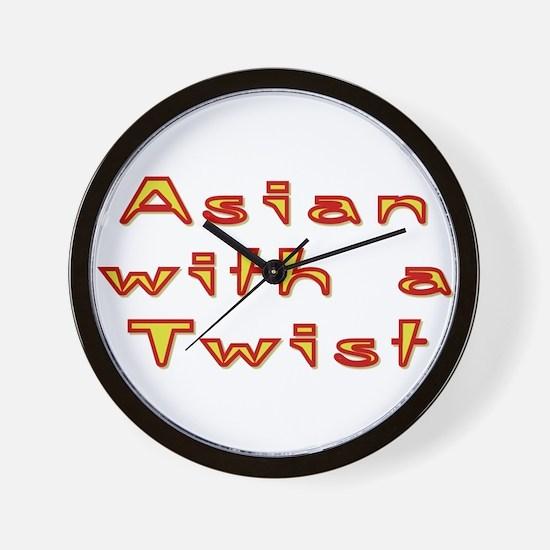 Asian Twist Wall Clock
