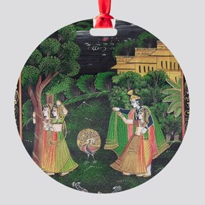 Miniature painting Round Ornament