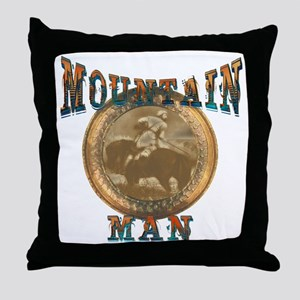 The Mountain Man or trappers, Throw Pillow