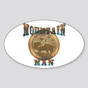 The Mountain Man or trappers, Oval Sticker