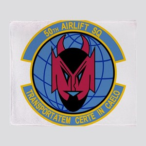 50th Airlift Squadron Throw Blanket