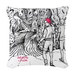 Outskirts Of Vision Woven Throw Pillow