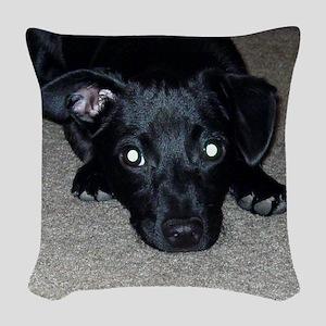 Black Chihuahua Woven Throw Pillow