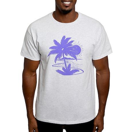 Violet Palm Beach Silhouette Light T-Shirt