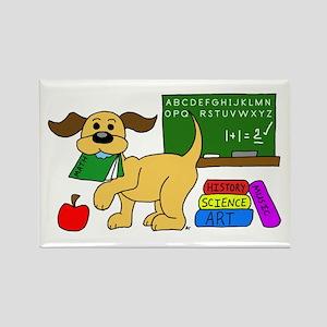 Classroom Pup Rectangle Magnet