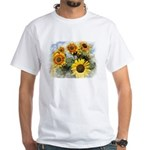 Sunflower Fields White T-Shirt