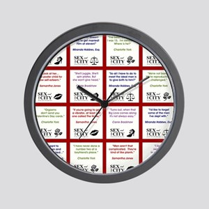 SATC COLLAGE (RED) Wall Clock