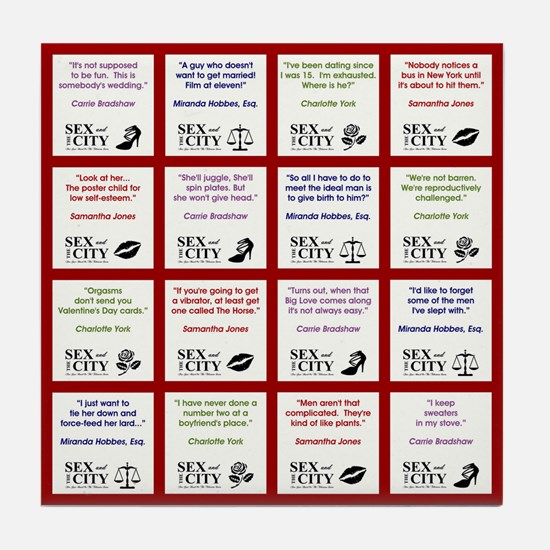 SATC COLLAGE (RED) Tile Coaster