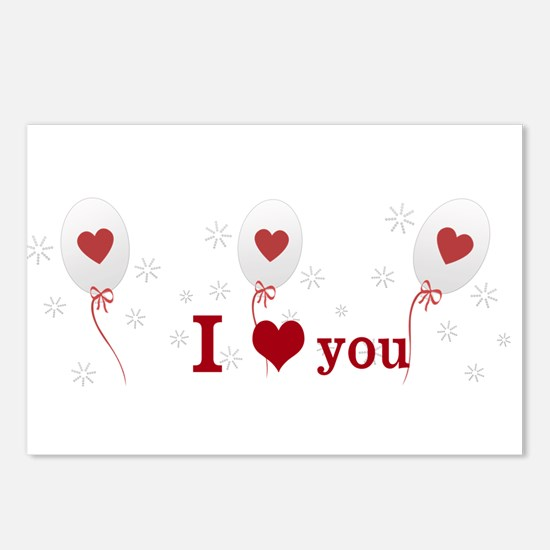 Love I Heart You Postcards (Package of 8)