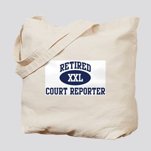 Retired Court Reporter Tote Bag