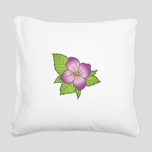 VIOLET FLOWER Square Canvas Pillow