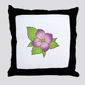VIOLET FLOWER Throw Pillow