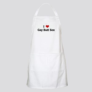 I Love Gay Butt Sex BBQ Apron
