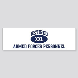 Retired Armed Forces Personne Bumper Sticker