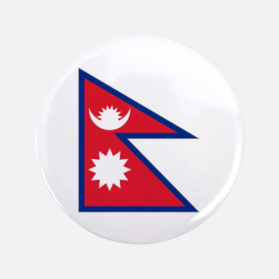 """Nepalese flag 3.5"""" Button"""