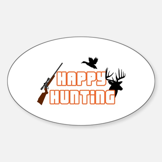 HAPPY HUNTING APPLIQUE Decal