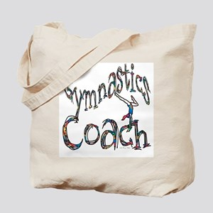 Gymnastics Coach Graphic Desi Tote Bag