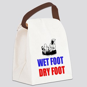 Wet Foot Dry Foot Canvas Lunch Bag