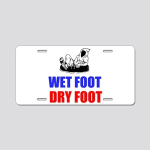 Wet Foot Dry Foot Aluminum License Plate
