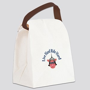 LIVE HARD RIDE HARD Canvas Lunch Bag