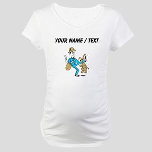 Custom Mailman Maternity T-Shirt