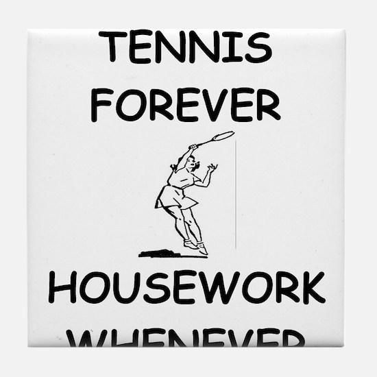 Cute Funny tennis Tile Coaster