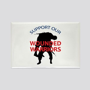 SUPPORT WOUNDED SOLDIERS Magnets