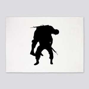 WOUNDED SOLDIER 5'x7'Area Rug