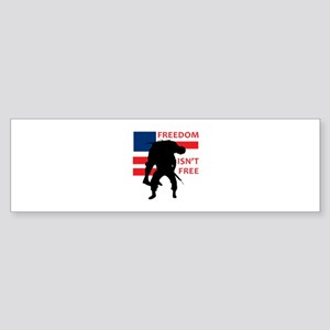 FREEDOM ISNT FREE Bumper Sticker