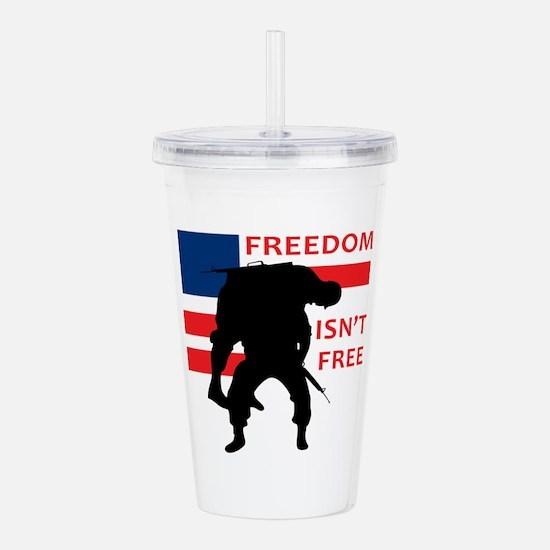 FREEDOM ISNT FREE Acrylic Double-wall Tumbler