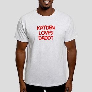 Kayden Loves Daddy Light T-Shirt