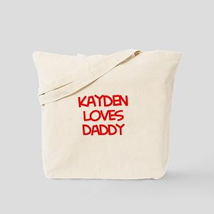 Kayden Loves Daddy Tote Bag