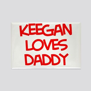 Keegan Loves Daddy Rectangle Magnet