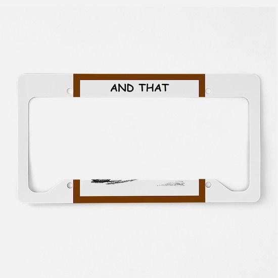 soccer joke License Plate Holder