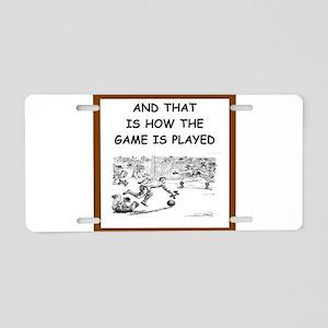soccer joke Aluminum License Plate
