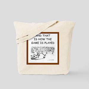 soccer joke Tote Bag