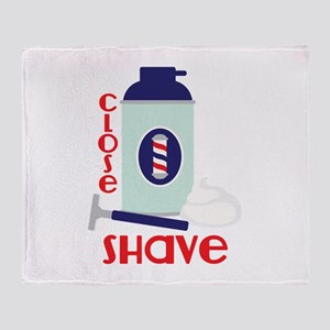 Close Shave Throw Blanket